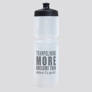 Trampolining More Awesome Designs Sports Bottle