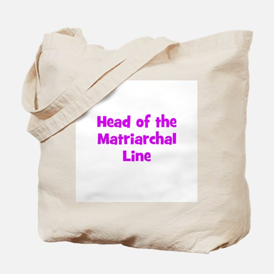 Head of the Matriarchal Line Tote Bag