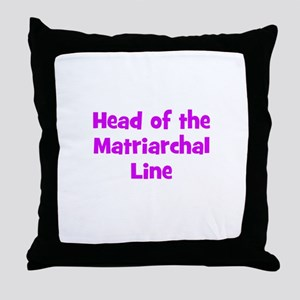 Head of the Matriarchal Line Throw Pillow