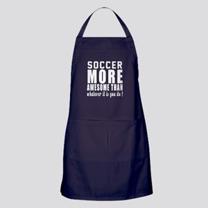Soccer More Awesome Designs Apron (dark)
