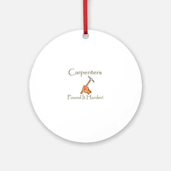 Cute Carpenter Round Ornament