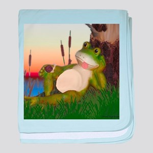 The Frog and Snail baby blanket
