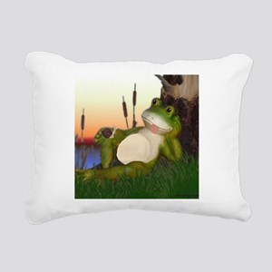 The Frog and Snail Rectangular Canvas Pillow