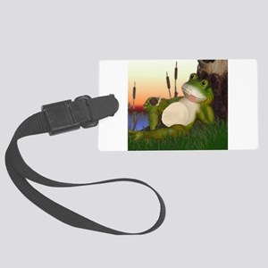 The Frog and Snail Large Luggage Tag