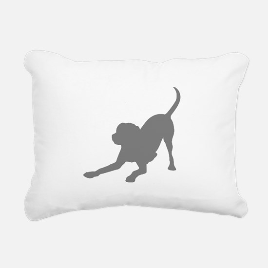 Lab 1C Gray Rectangular Canvas Pillow