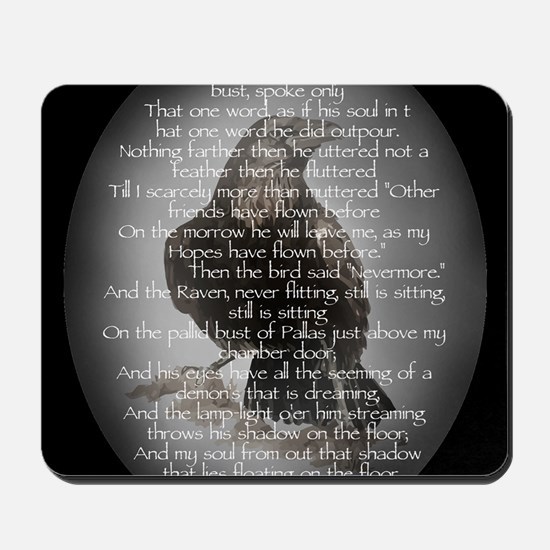 Edgar Allan Poe The Raven Poem Mousepad