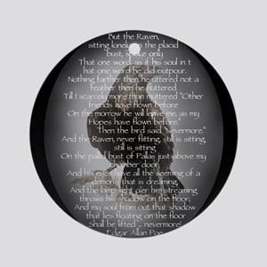 Edgar Allan Poe The Raven Poem Round Ornament