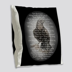 Edgar Allan Poe The Raven Poem Burlap Throw Pillow