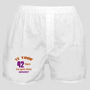It took 42 years to get this Awesome Boxer Shorts