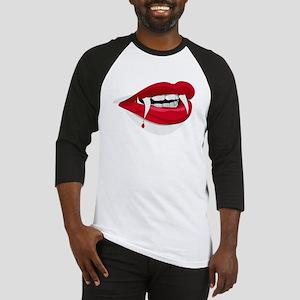 Halloween Vampire Teeth Baseball Jersey
