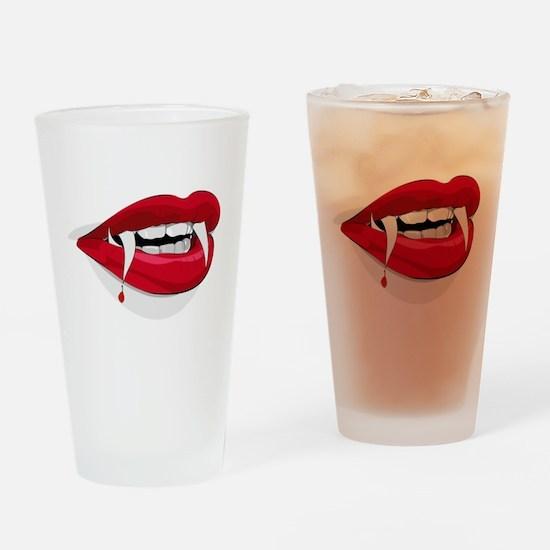 Halloween Vampire Teeth Drinking Glass