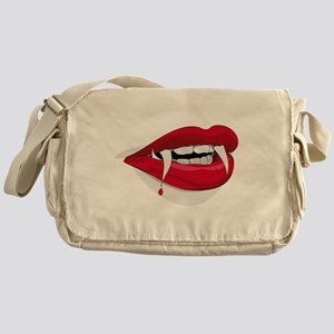 Halloween Vampire Teeth Messenger Bag