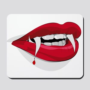 Halloween Vampire Teeth Mousepad