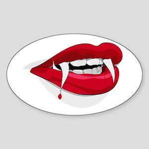 Halloween Vampire Teeth Sticker