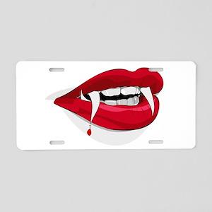 Halloween Vampire Teeth Aluminum License Plate