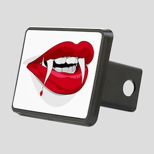 Halloween Vampire Teeth Rectangular Hitch Cover