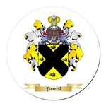 Parcell Round Car Magnet