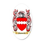 Papworth Oval Car Magnet
