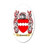 Papworth 20x12 Oval Wall Decal