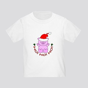 Cartoon Pig Santa Toddler T-Shirt
