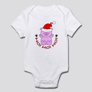 Cartoon Pig Santa Infant Bodysuit