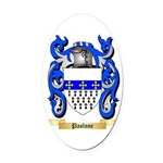 Paolone Oval Car Magnet