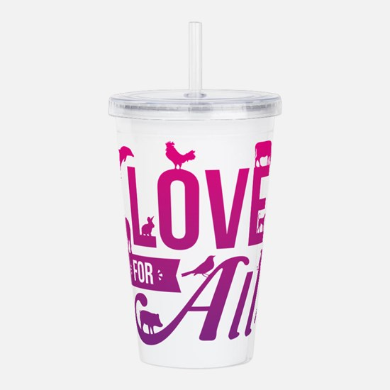 Love for All Acrylic Double-wall Tumbler