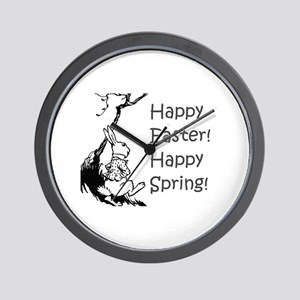 Happy Easter! Happy Spring! Wall Clock