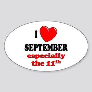 September 11th Oval Sticker
