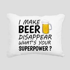 I Make Beer Disappear Rectangular Canvas Pillow