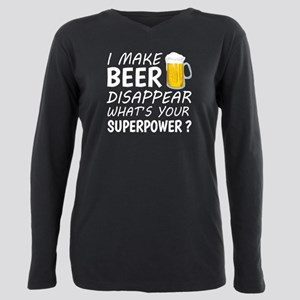 I Make Beer Disappear Plus Size Long Sleeve Tee