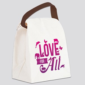 Love for All Canvas Lunch Bag