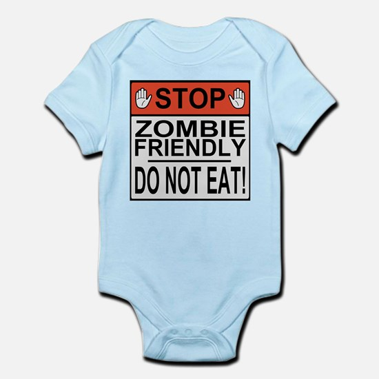 zombie friendly do not eat stop hands Body Suit