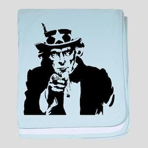 Uncle Sam America baby blanket