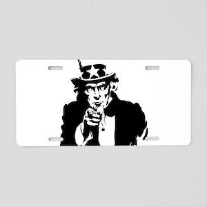 Uncle Sam America Aluminum License Plate