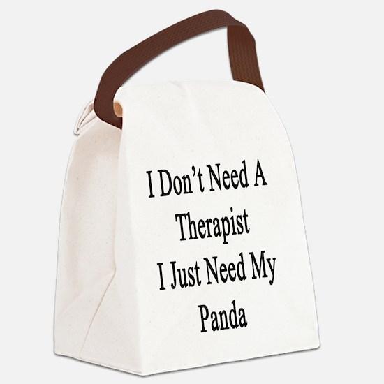 Unique Panda lovers Canvas Lunch Bag