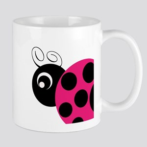 Pink and Black Ladybug Mugs