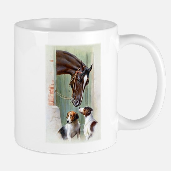 HORSE and DOGS - vintage print Mugs