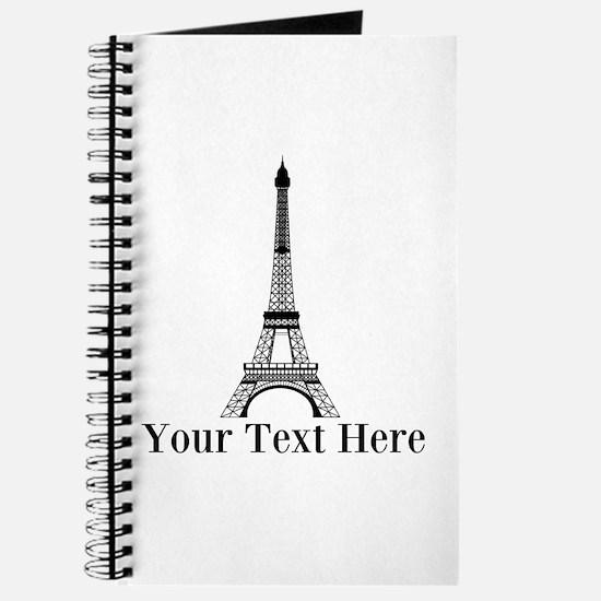 Personalizable Eiffel Tower Journal