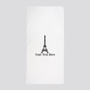 Personalizable Eiffel Tower Beach Towel