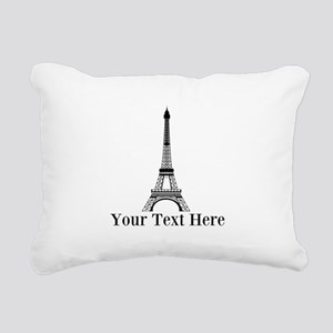 Personalizable Eiffel Tower Rectangular Canvas Pil