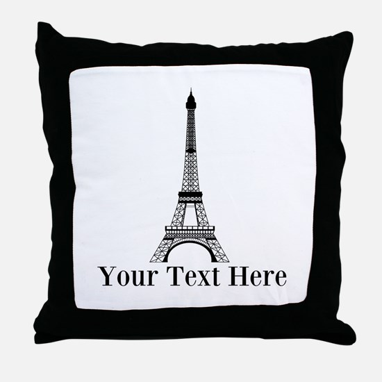 Personalizable Eiffel Tower Throw Pillow