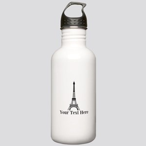 Personalizable Eiffel Tower Water Bottle
