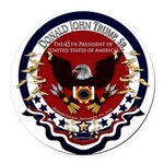 Donald Trump Sr. Inauguration 201 Round Car Magnet