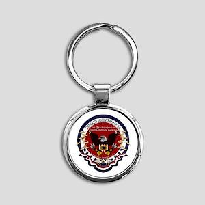 Donald Trump Sr. Inauguration 2017 Round Keychain