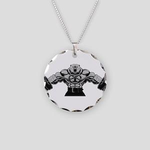 Gym Maniac Necklace Circle Charm