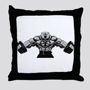 Gym Maniac Throw Pillow