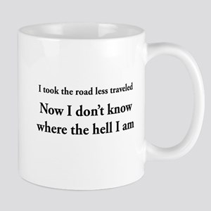 The road less traveled Mugs
