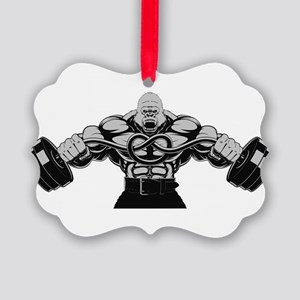 Gym Maniac Picture Ornament