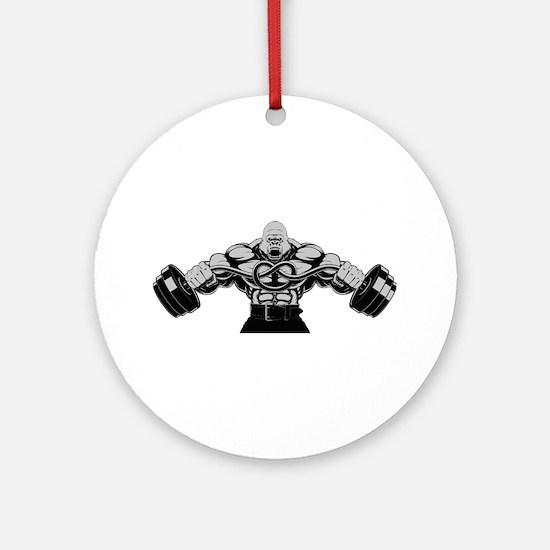 Gym Maniac Round Ornament